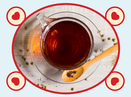 rooibos rocks red tea with spoon