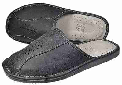 Apollo mens Leather Slippers - Reindeer Leather