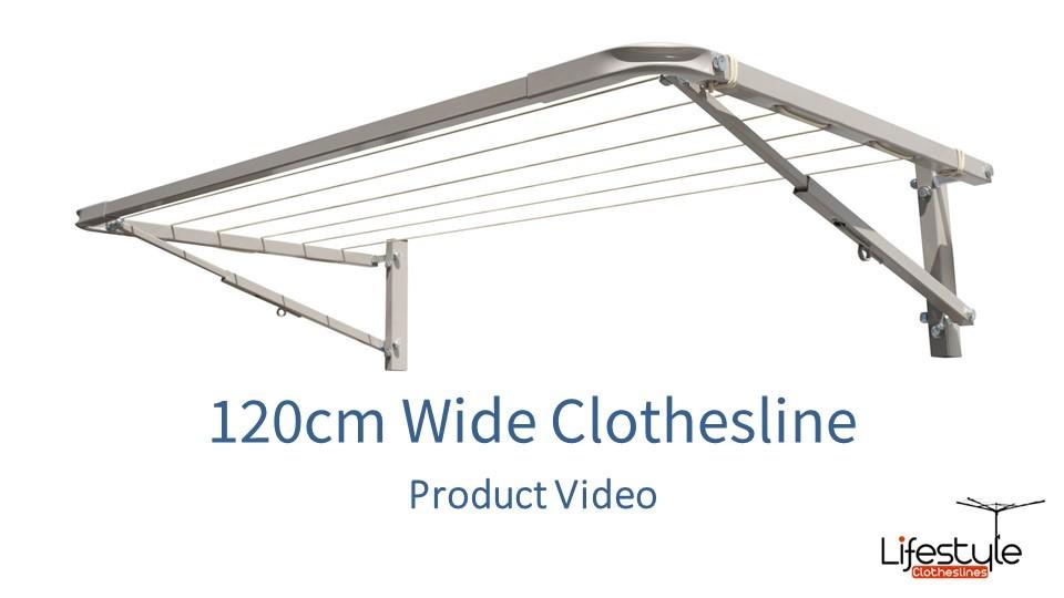 120cm wide clothesline