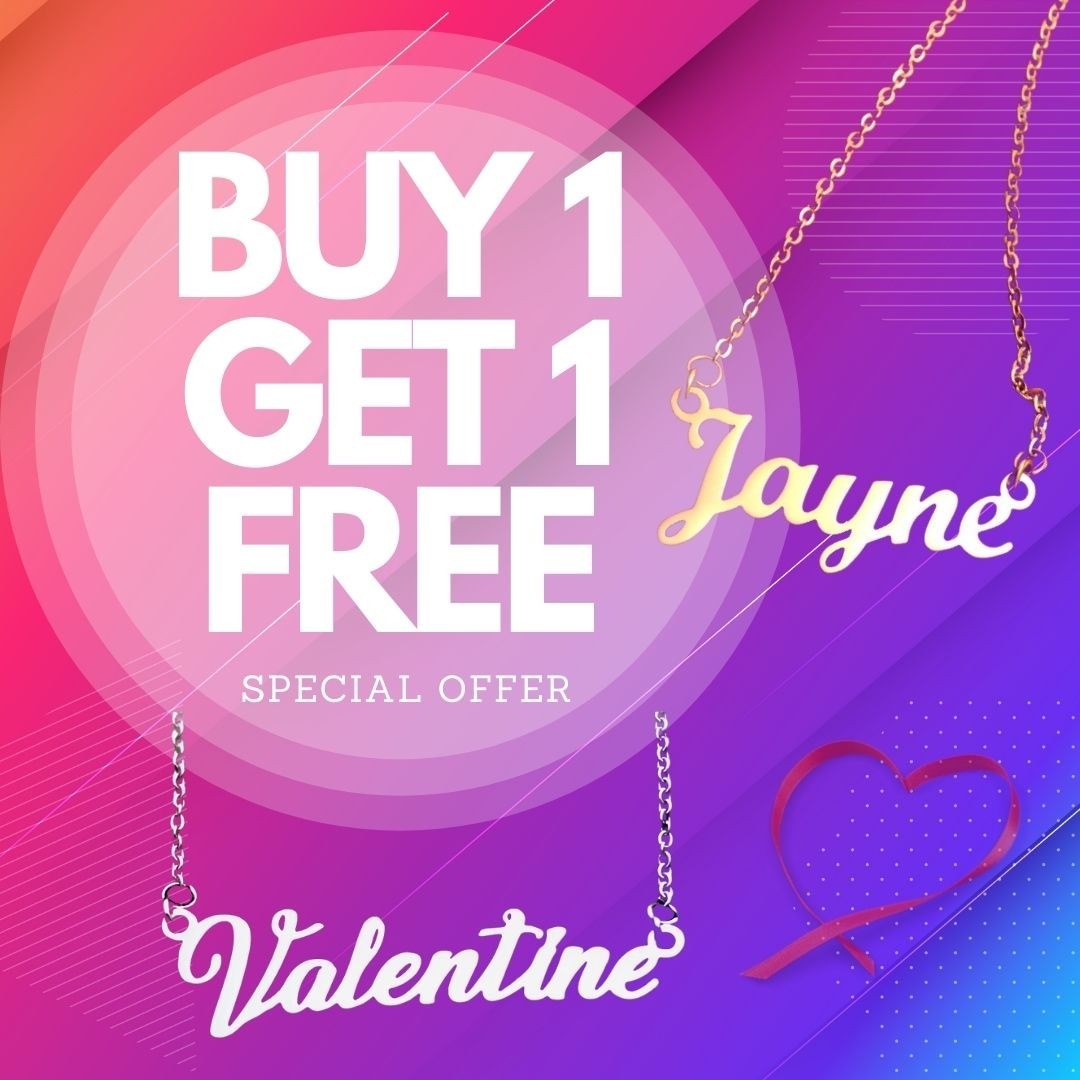 Buy One Get One Personalised Name Necklace Belle Fever