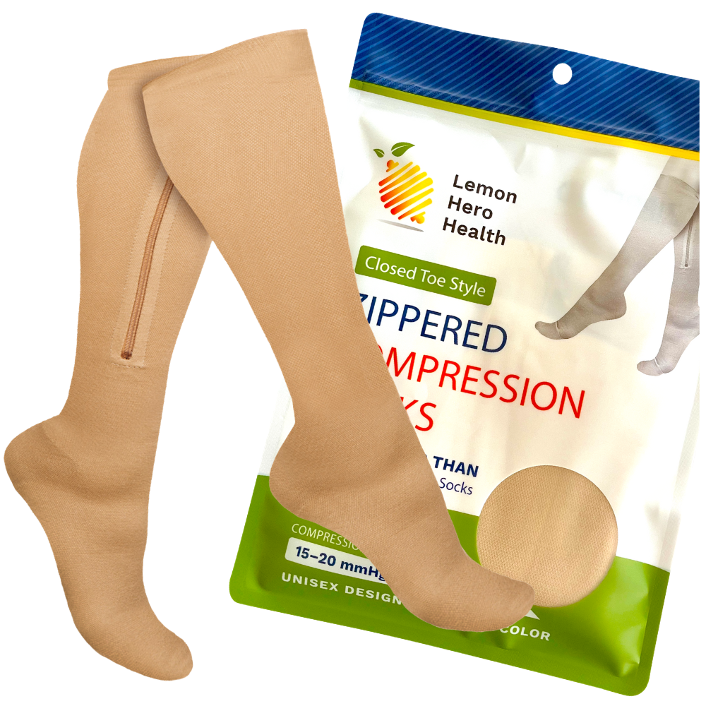 Open Toe Zippered Compression Socks