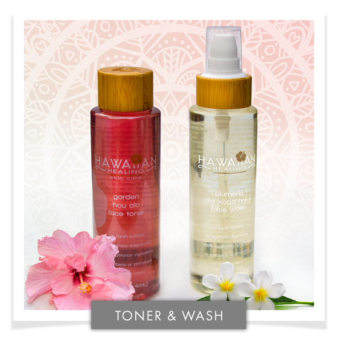Hawaiian Healing Soothing Cleanser Toner Duo