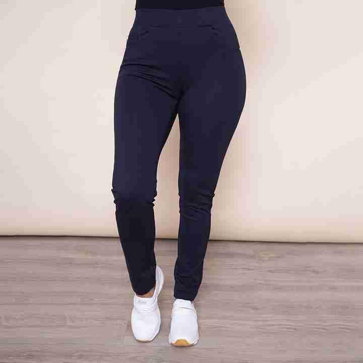 Stretch Waist Stud Pocket Trouser(Navy)