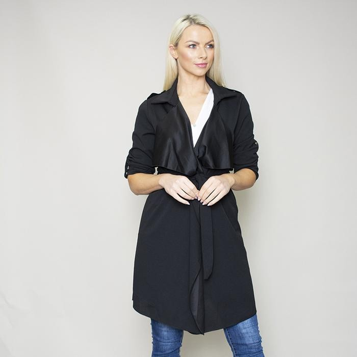 Jenny Waterfall Blazer (Black)