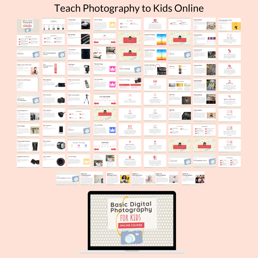 teach photography to kids online