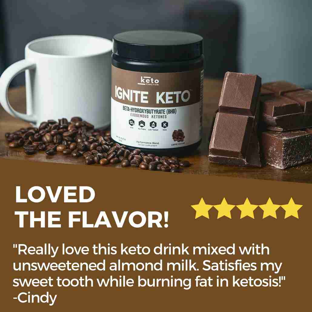 ignite keto bhb exogenous ketones best rated for taste and perfect base for coffee and almond milk