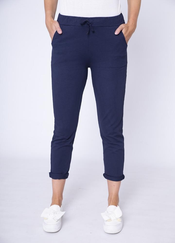 Drawstring Side Pocket Trouser Navy