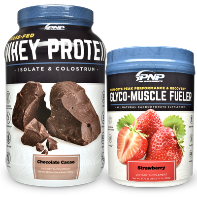 Best post workout supplements. Carbohydrate supplement powder and whey protein.