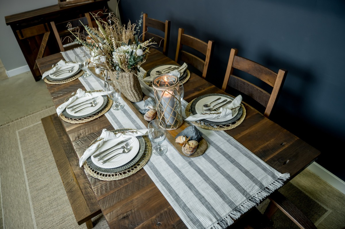 Pathway Reclaimed Wood Dining Table Set