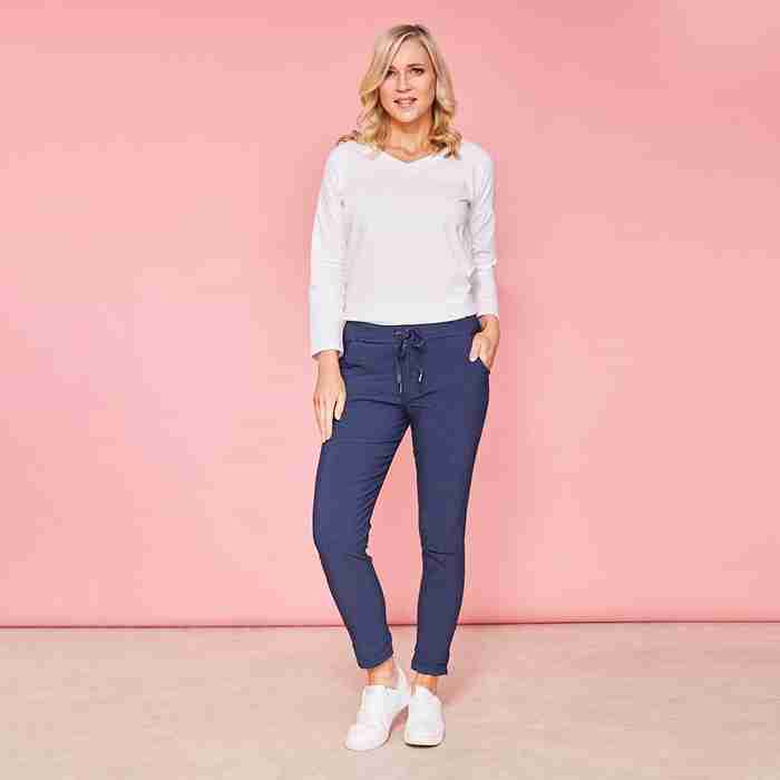 Charlie Relaxed Stretched Jogger(Navy)