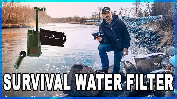 axe family youtube video - survival water filter