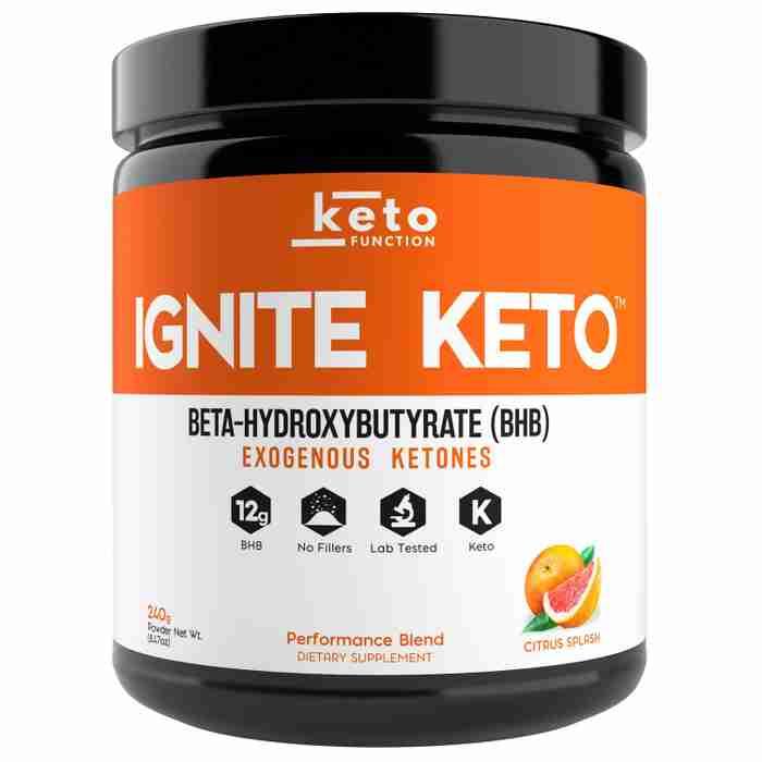 ignite keto best exogenous ketones bhb citrus splash orange mango base