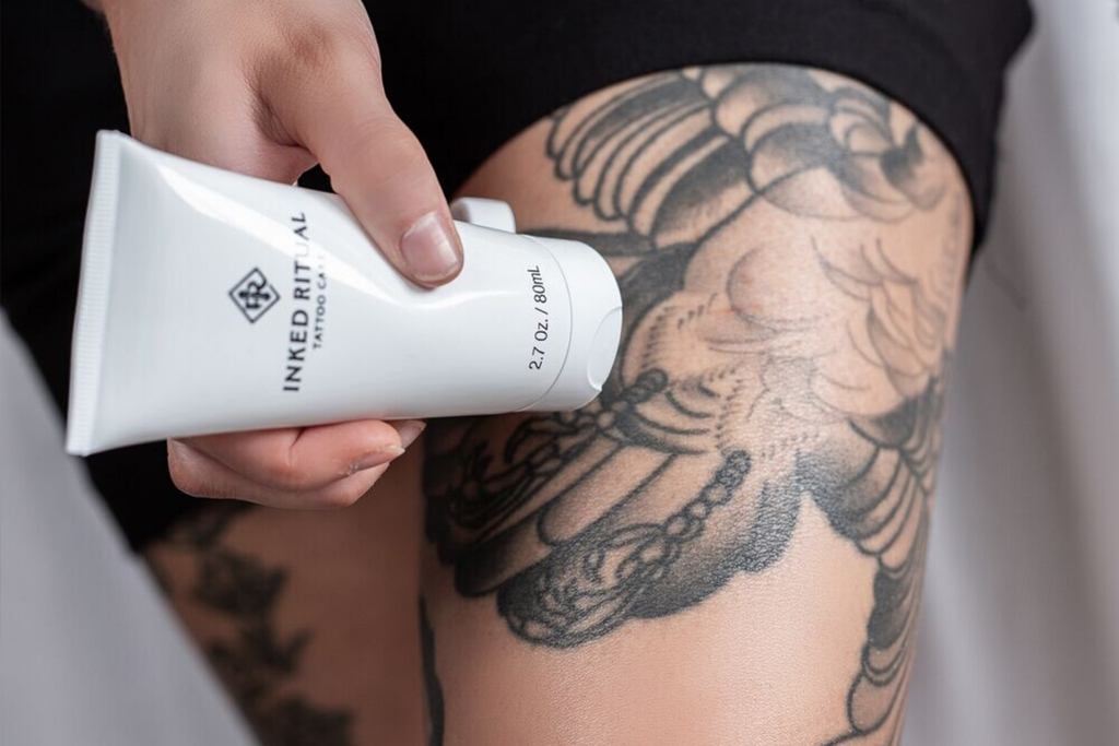 Inked Ritual Tattoo Care | Anti-Fade Serum stops tattoo fading