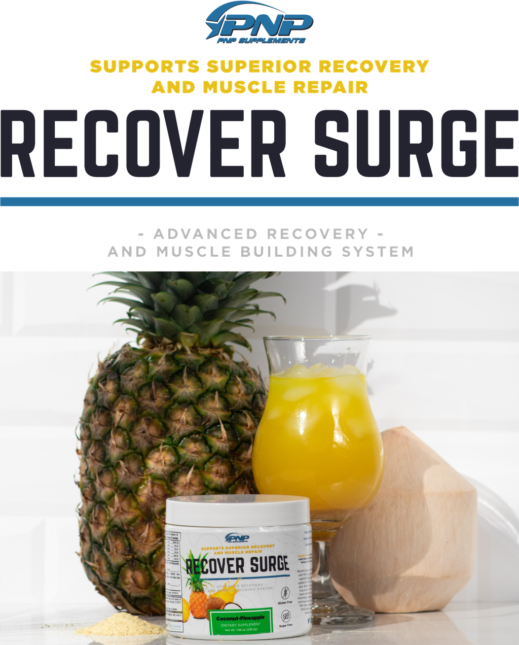 Best Recovery Supplement Recover Surge by PNP Supplements