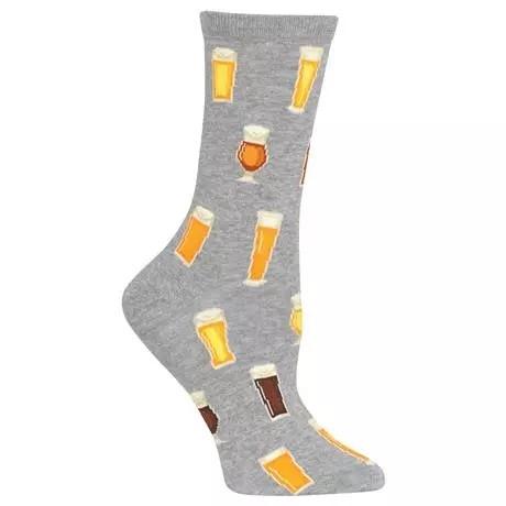 Gabby Maria Women's Beer Crew Socks