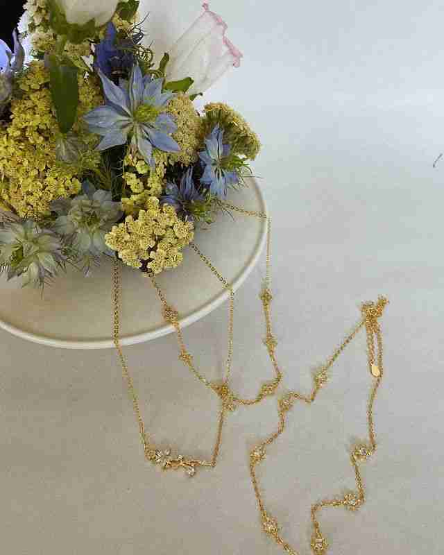 Gold vermeil Clementine choker necklace