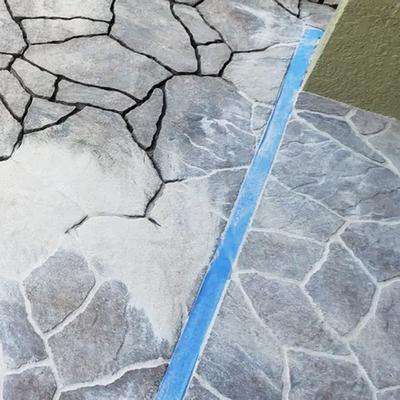 Natural on gray flagstone