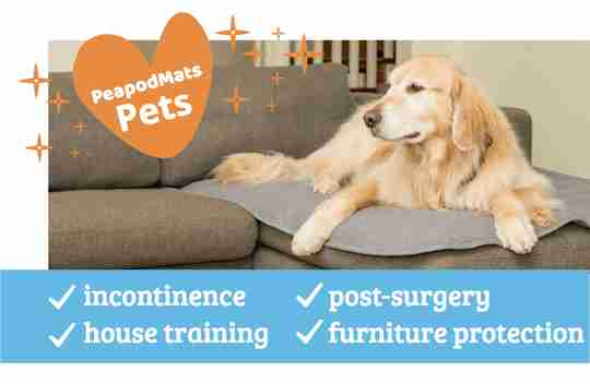 PeapodMats Incontinence Furniture Protector for Pets