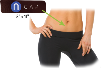 nCAP Pain Relief Device Menstrual cramps, stomach cramps, stomach aches all the time