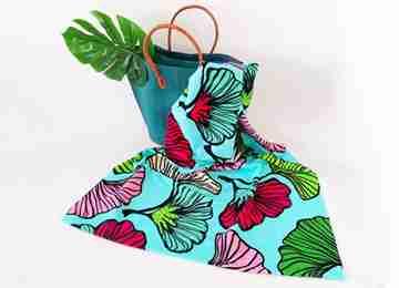 Serviettes de plage imprimé en microfibre motif Ginkos