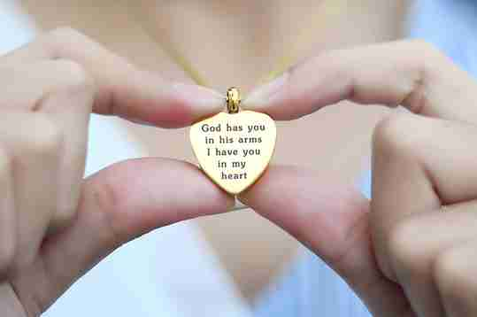 Heart Personalized Cremation Necklace