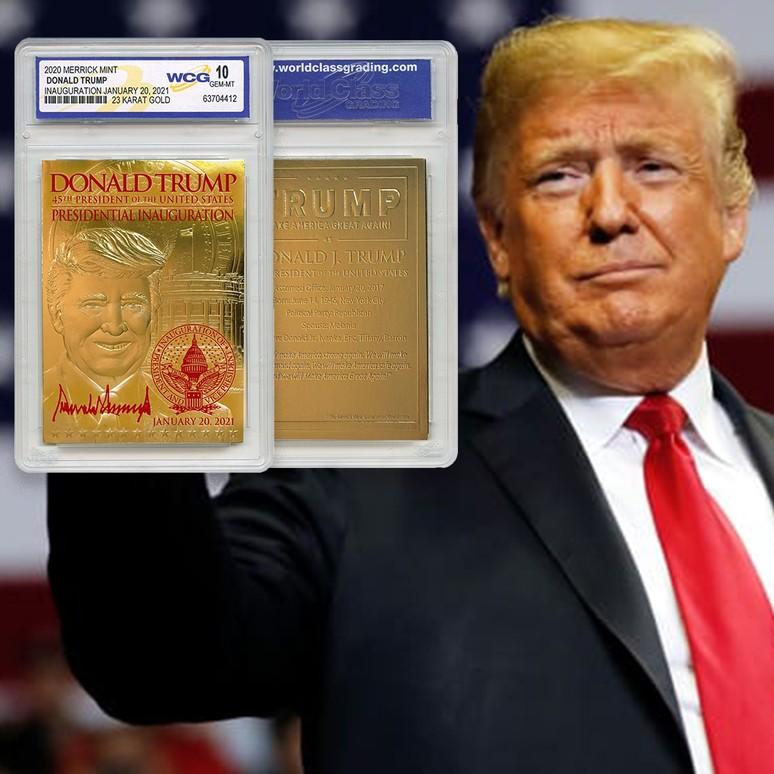 Trump 2021 - 23 Karat Gold Foil Trading Card