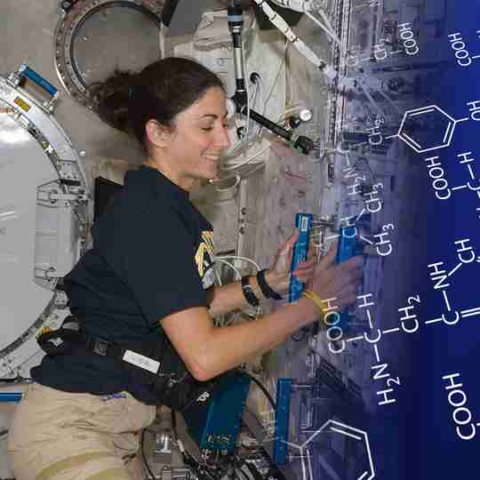 Future Amino Co scientists developed the essential amino acid formula for NASA astronauts.
