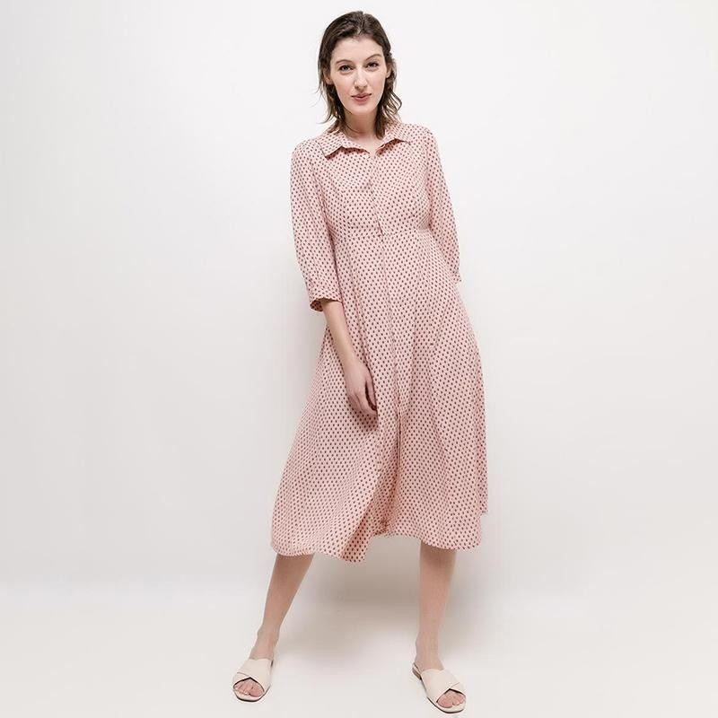 Pamela Shirt Dress Pink