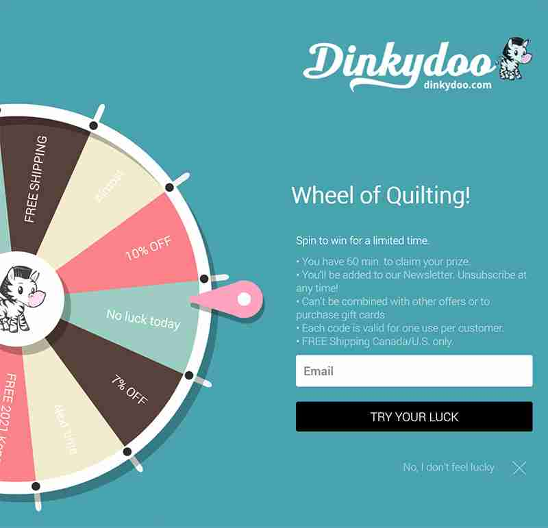 dinkydoo wheel of quilting