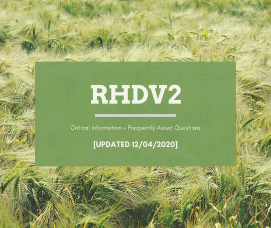 RHDV2 Update 12/04/2020