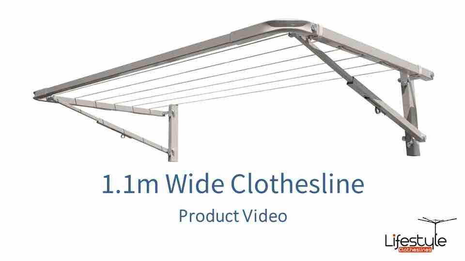 1.1m wide clothesline