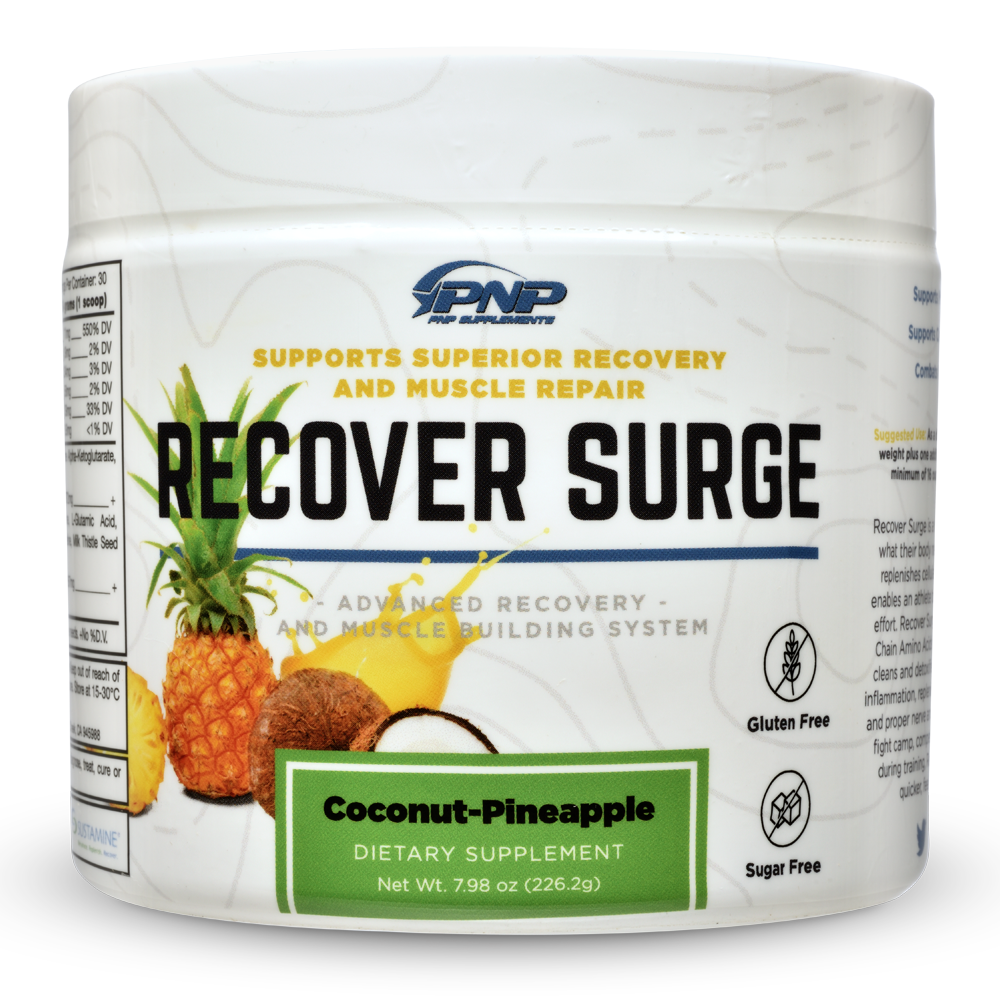 Post workout supplements Recover Surge by PNP Supplements.