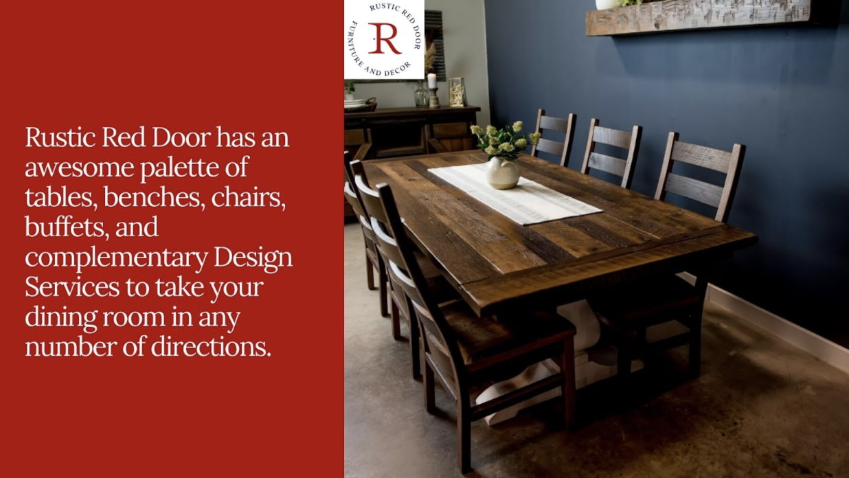 reclaimed wood dining table and chairs
