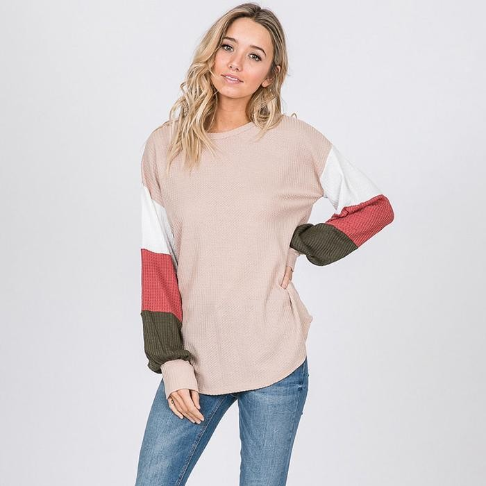Beal Bishop Sleeve Top Nude