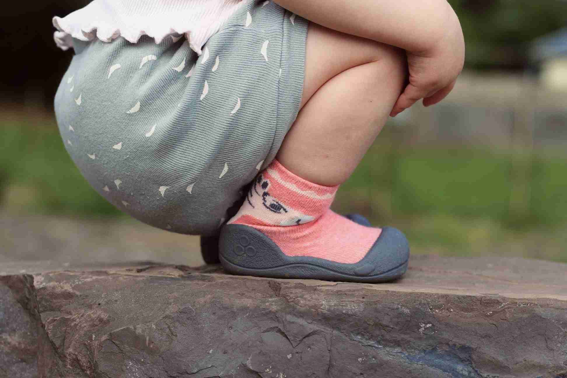 Attipas baby shoes in Zebra - Pink