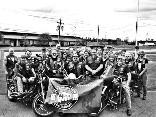 Men on motorcycles
