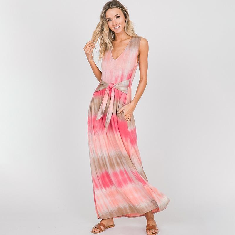Tess Ombre Maxi Dress Pink