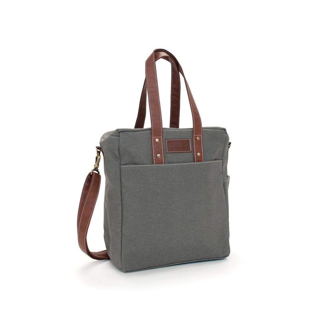 MAIKA waxed ash commuter tote