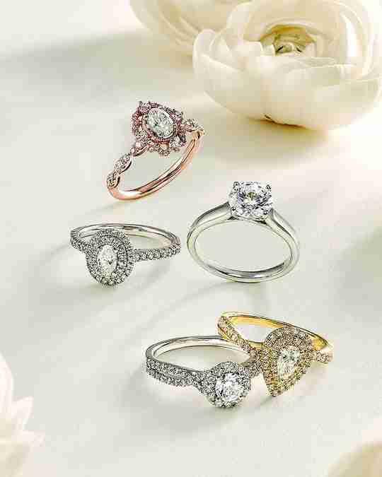 Five Helzberg engagement rings
