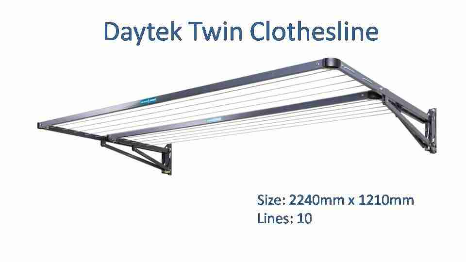 daytek twin 2200mm wide clothesline dimensions