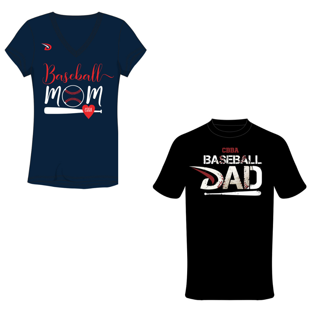 CBBA Baseball Mom/Dad Shirt