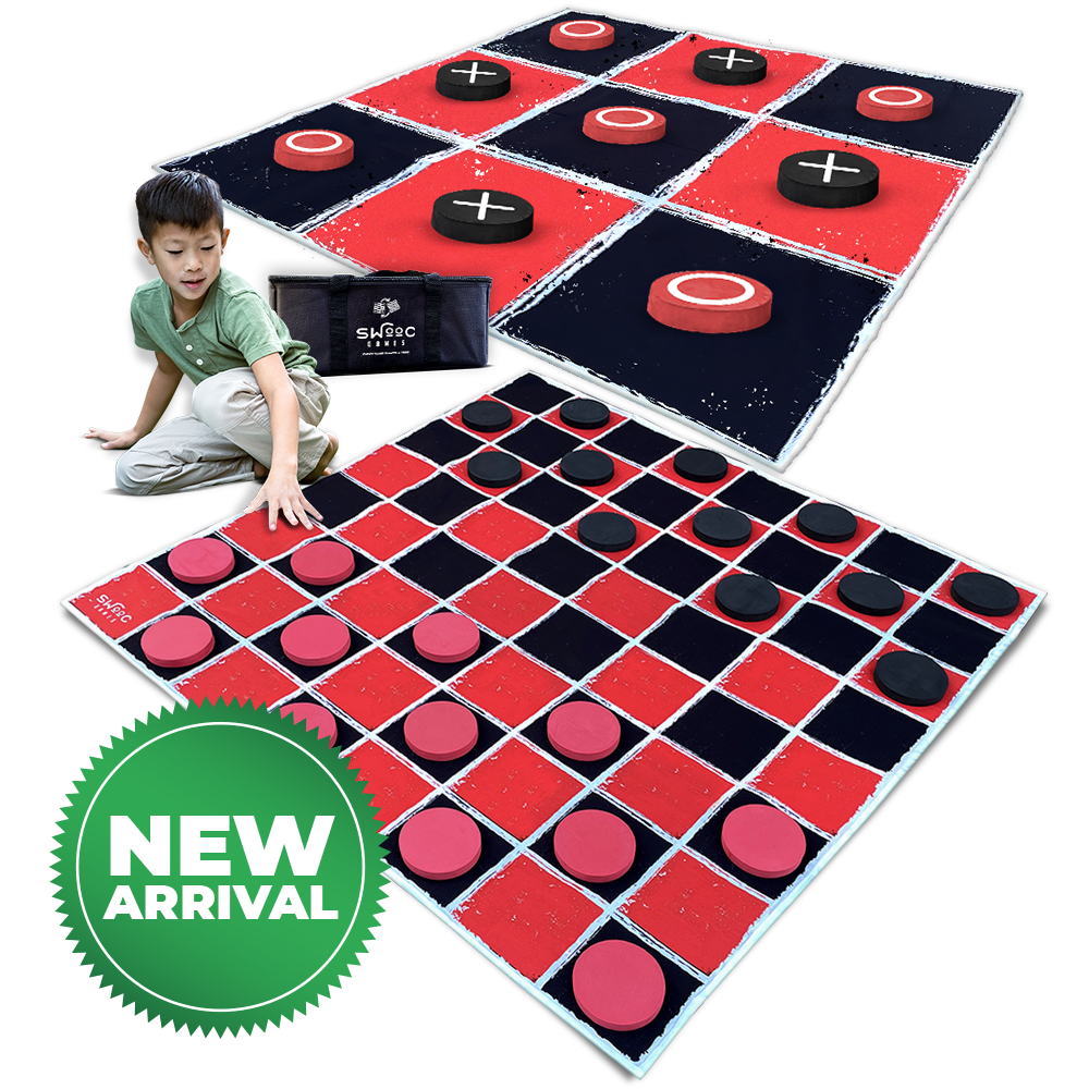 Giant Checkers & Tic Tac Toe Game