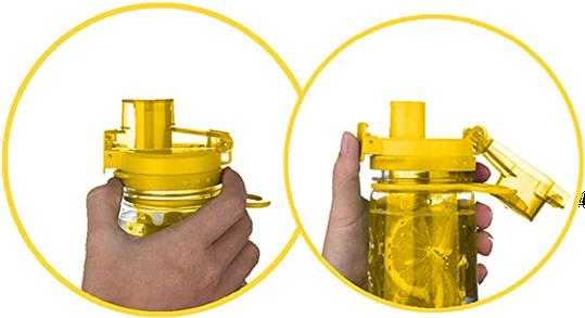 Infuser Water Bottle 25oz - Sunny Yellow - Flip Top