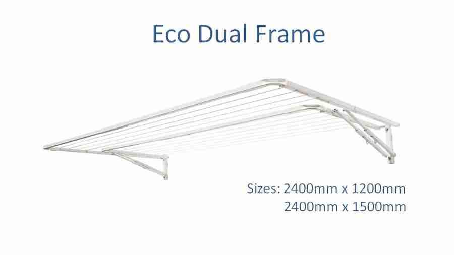 eco dual frame 2500mm wide clothesline dimensions
