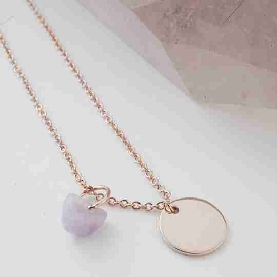 HONEYCAT Wishing Crystals Collection necklace in rose gold