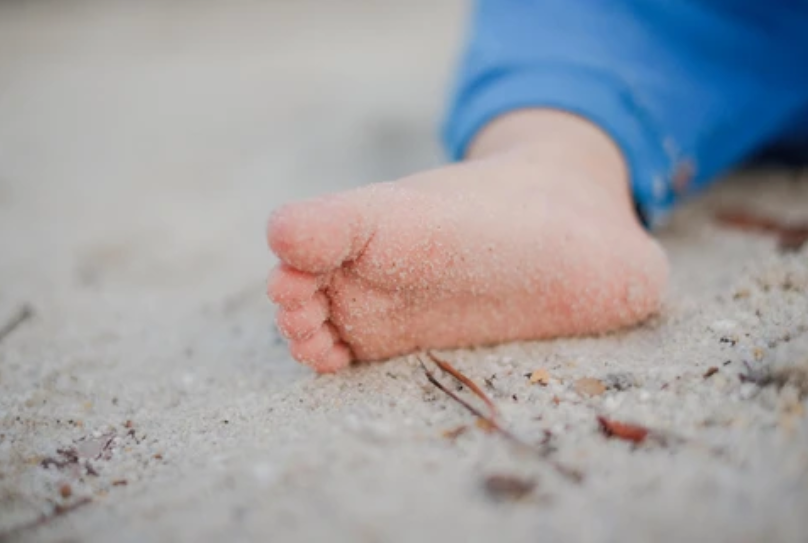 Barefoot is best when it comes to baby's first steps