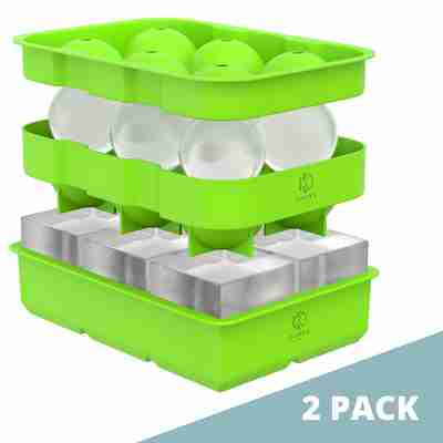 2X Ice Cube Tray Set