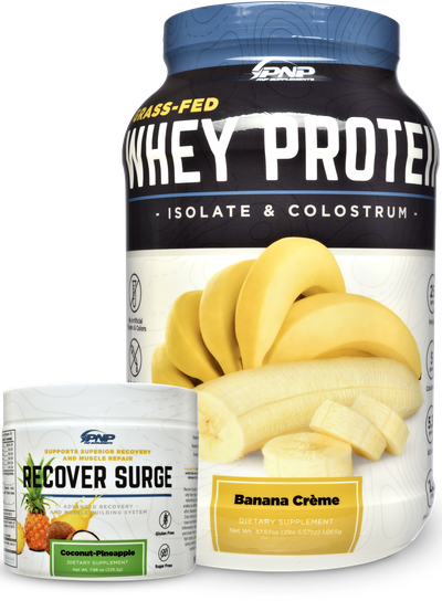 Post workout supplements and whey protein by PNP Supplements.