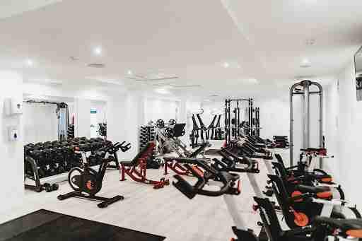 gym weights room cardio dumbells