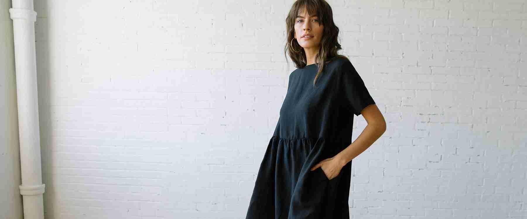 The Perfect Linen Dress - The Nico Caroline Print